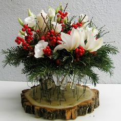 yau flori_aranjament special pentru masa de craciun