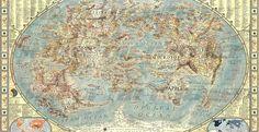 mapa del mundo del internet