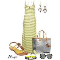 Yellow & Grey Casual Contest by anna-campos on Polyvore