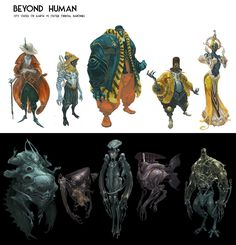 ArtStation - Georgios Dimitriou's submission on Beyond Human - Character Design