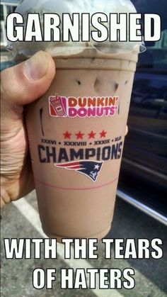 Two of my favorite things! The Patriots and coffee!! <3