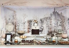 Narnia and Winter Wonderland Party by Little Big Company, snowy backdrop
