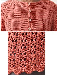 Crochet Cardigan Tutorial ༺✿ƬⱤღ  https://www.pinterest.com/teretegui/✿༻