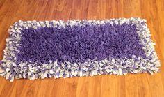 Fleece rag rug runner soft 2 ft x 4 ft  on Etsy, $150.00