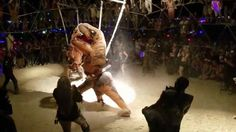 Underground T-Rex Fight Club Is Terrifyingly Awesome!