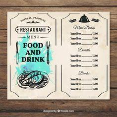 Seafood Menu Free Vector  Card  Banner    Seafood Menu