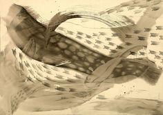 Zhou He, Drift Away NO.7 2005, Ink on Paper Chinese Contemporary Art, Chinese Art, Wu Guanzhong, Drift Away, Community Art, Ink, History, Paper, Illustration