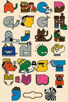 Alphabet poster by Twelve Car Pileup