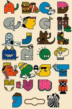 Alphabet poster by Twelve Car Pileup