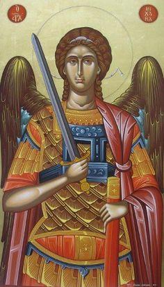 Aartsengel Names Of Angels, Angels And Demons, Gabriel, Archangel Michael, Orthodox Icons, Ancient Aliens, Sacred Art, St Michael, Outdoor Art