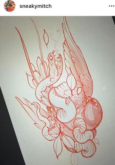 Ideas For Tattoo Traditional Leg Flash Art Asian Tattoos, Trendy Tattoos, Tattoo Sketches, Tattoo Drawings, Japanese Snake Tattoo, Japanese Dragon, Bird Sketch, Silhouette Clip Art, 1 Tattoo