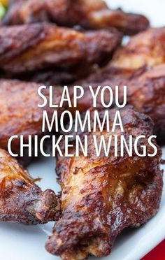Food Fighters' Adam Richman made an apology on Kathie Lee & Hoda and shared the Slap Yo Momma Chicken Wings Recipe that won his impromptu taste test. -Finish last 20 min on the grill Turkey Recipes, Meat Recipes, Appetizer Recipes, Cooking Recipes, Appetizers, I Love Food, Good Food, Yummy Food, Chicken Wing Recipes