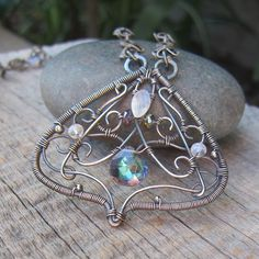 Queen Titania  Luxe Wire Wrapped Necklace by ElementsArtifacts