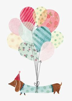 Ideas dogs happy birthday illustration for 2019 Happy Birthday Cards, Birthday Greeting Cards, Birthday Greetings, Birthday Wishes, Birthday Quotes, Card Birthday, Birthday Woman, Dog Birthday, Happy Birthday Dachshund
