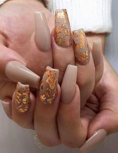 Simple Tip About Gel Nails Ideas for Fall Autumn Art Designs Uncover.A Simple Tip About Gel Nails Ideas for Fall Autumn Art Designs Uncover. Fall Gel Nails, Fall Acrylic Nails, Spring Nails, Fall Nail Designs, Acrylic Nail Designs, Gold Designs, October Nails, 24 October, Nyc Nails