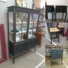 Graphite Chalkpaint ™ Display Cabinets, China Cabinet, Chalk Paint, Graphite, Storage, Glass, Furniture, Home Decor, Graffiti