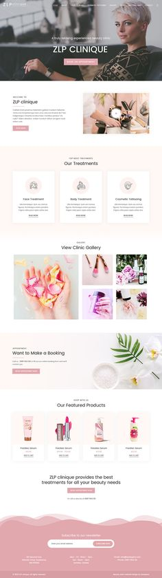 Beauty Clinic Home Page Design on Behance Beauty Clinic, Landing Page Design, Behance, Photoshop, Website