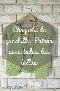 Mode Crochet, Diy Crochet, Crochet Baby, Crochet Top, Crochet Jacket, Knitted Poncho, Crochet Cardigan, Bolero Crochet, Crochet T Shirts