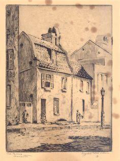 Etching, Old Tavern Charleston, by Elizabeth O'Neill Verner. Charleston Museum