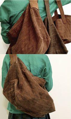 shozan Big Bags, Cute Bags, Diy Clothes Bag, Newspaper Bags, Diy Handbag, Linen Bag, Denim Bag, Fabric Bags, Handmade Bags