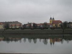 Osijek, Croatia, 2006 - Old town from across the Drava River