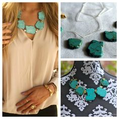 DIY Turquoise Necklace Tutorial