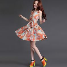 Sweety puff sleeve dress - US$ 69.07