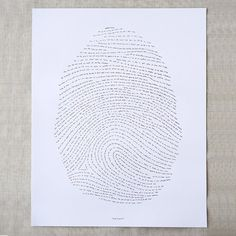 The God's fingerprint Letterpress Art Print has one verse from every book of the Bible. It starts in Genesis ('In the beginning.') and ends with a 'Hallelujah!' in Revelation. Every book of the Bible is represented in between. Look At You, Just For You, Fingerprint Art, Christian Artwork, Scripture Art, Bible Art, Bible Verses, Scriptures, Bible Quotes