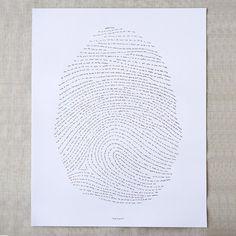 16x20 God's Fingerprint Letterpress