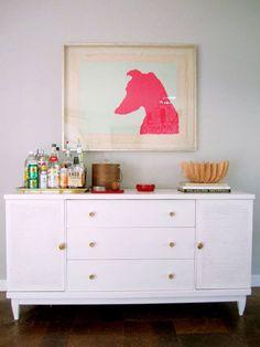 Art print over dresser