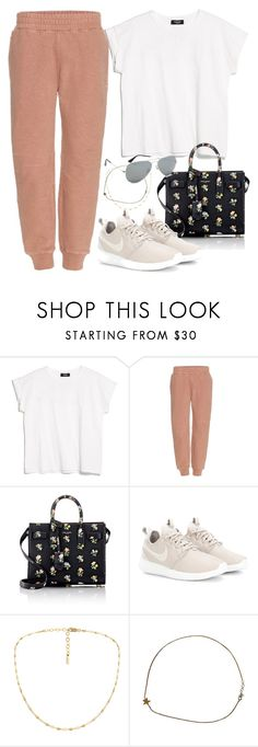 """Untitled #2964"" by camilae97 ❤ liked on Polyvore featuring MANGO, adidas Originals, Yves Saint Laurent, NIKE and Ray-Ban"