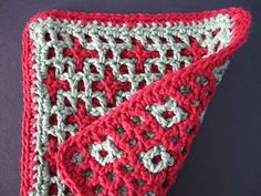 Wind Rose Fiber Studio: Stars & Squares ~ Interlocking Crochet