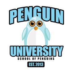 Awesome 'Penguin+University+-+Blue' design on TeePublic!