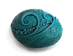 Dragon eggs are handmade of polymer clay in custom blended colors over actual empty goose eggs. Every detail is made by hand and…