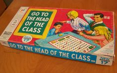 Vintage 1967 Board Game Go to the Head of the Class by Milton Bradley – Retro Family Game by RetrospectiveLife on Etsy