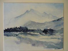 nebel+im+aquarell   Landschaften - Heinzi's Aquarelle