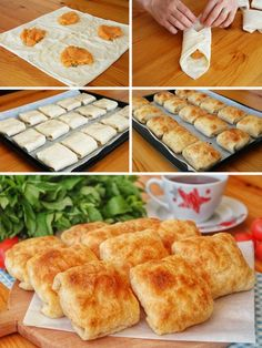 Soft Puff Pastry (with Potato) (with video) - Yummy Recipes - Dessert Yummy Recipes, Easy Sandwich Recipes, Lunch Recipes, Dessert Recipes, Yummy Food, Desserts, Potato Recipes, Party Sandwiches, Finger Sandwiches