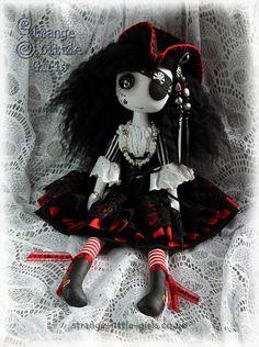 15 Inch Gothic button eyed pirate art doll by StrangeLittleGirlsUK