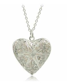 Heart Photo Locket Necklace - Silver