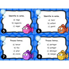 Cartes à tâches : Le verbe Primary Education, Primary School, Elementary Schools, Speech Therapy Activities, Teaching Activities, Classroom Arrangement, French Worksheets, French Grammar, French Immersion