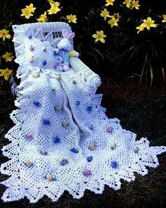 Pineapple Rose Blossoms Afghan & Pillow Set Crochet Pattern