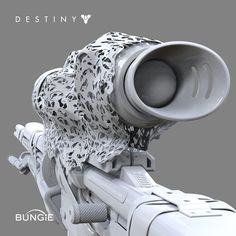 Destiny: Exotic Sniper Rifle Ice Patience and Time FP, David Stammel on ArtStation at http://www.artstation.com/artwork/destiny-exotic-sniper-rifle-ice-patience-and-time-fp