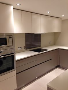 Bespoke, contemporary kitchen fitted as part of a modern flat refit