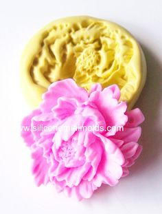 Peony mold 260  silicone mold craft mold porcelain by Minimolds, $5.00