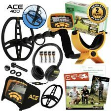 Garrett ACE 400 Metal Detector (1141260) for sale online   eBay Metal Detectors For Sale, Garrett Metal Detectors, Waterproof Metal Detector, Camo Bag, Bolts And Washers, Metal Detecting, Ebay, Gold Prospecting, Accessories