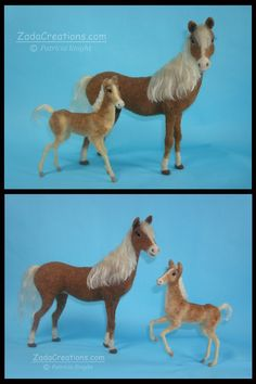 Needle Felted Haflinger Horse and Foal by Zada Creations...................  #needle #felted #horse #foal