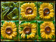 El Capricho de Gaudí, Comillas - sunflowers by Ian & Gen, via Flickr