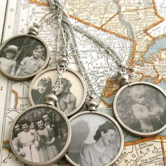 Vintage lockets- I love the idea of carrying or displaying loved ones photos close to your heart.