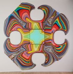 Colorful artworks by Holton Rower