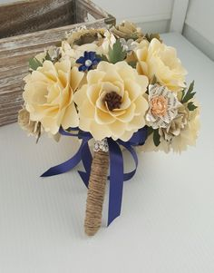 Book Page Paper Flowers - Bridal Bouquet - Wedding Bouquet - Rustic Wedding - Wedding Flowers - Handmade - Customized Flowers - Designed by Anna Fearer